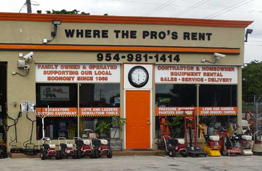 Equipment & tool rentals in Miami, Fort Lauderdale, Hollywood FL, Pompano Beach Florida